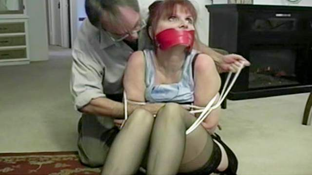 BDSM, Bondage, Gagging, High heels, Mature, Mom, Rope, Shibari, Stockings