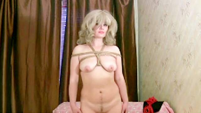 BDSM, Blonde, Bondage, High heels, Rope, Shibari, Stockings
