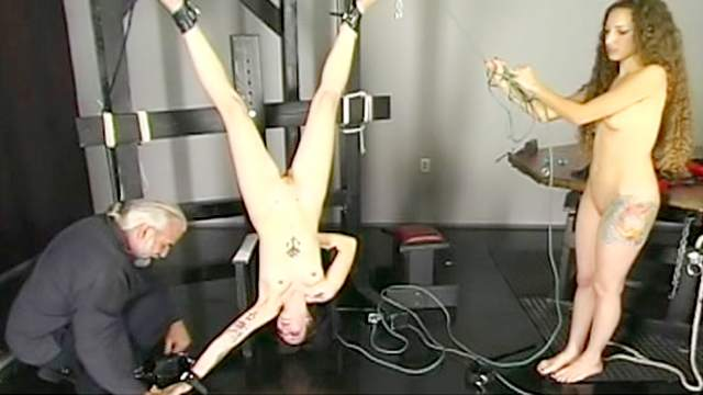 BDSM, Chinese, Guillotine, HD, Shaved pussy, Small tits, Tattoo, Vibrator