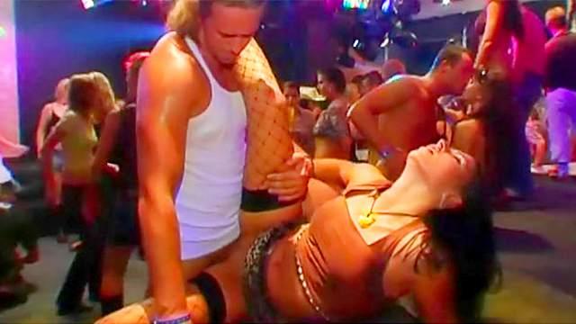 Party sluts in a hardcore porn video