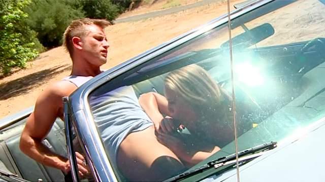 Nicole Aniston fucked on the hood of a car
