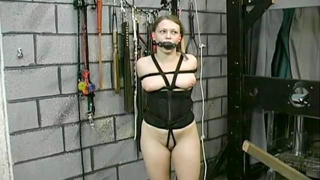 BDSM, Blonde, Brunette, Hanging, Maledom, Natural tits, Tits torture