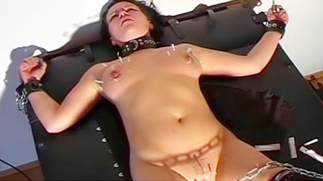 BDSM, Chinese, Corset, Handcuffs, HD, Pain, Stockings