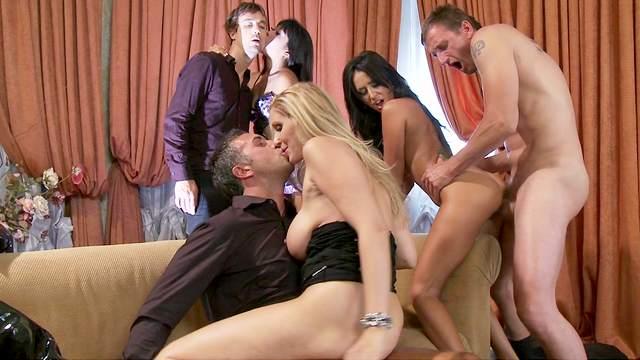 Hardcore orgy with famous brazzers pornstars!
