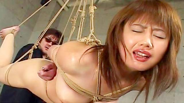 Asian, BDSM, Bondage, Hairy, Hanging, HD, Small tits, Wax