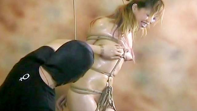 Asian, BDSM, Bondage, Hanging, HD, Small tits